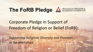 The FoRB Pledge - Banner