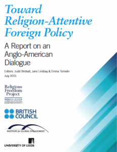 Toward Religion-Attentive Foreign Policy