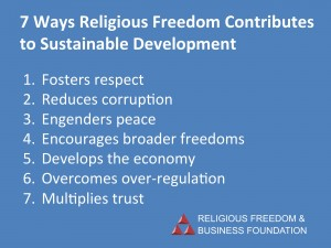 7 ways Religious Freedom helps Sustainable Development