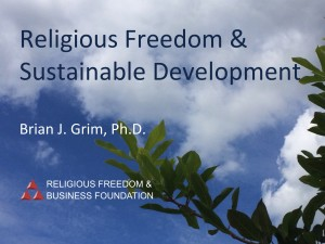 Religious Freedom & Sustainable Development
