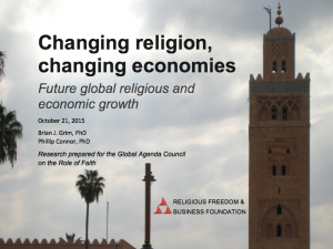 Changing religion, changing economies