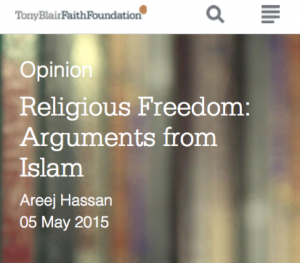 FoRB - arguments from Islam
