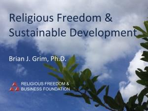 Religious Freedom & Sustainable Development