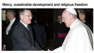 Mercy, sustainable development and religious freedom